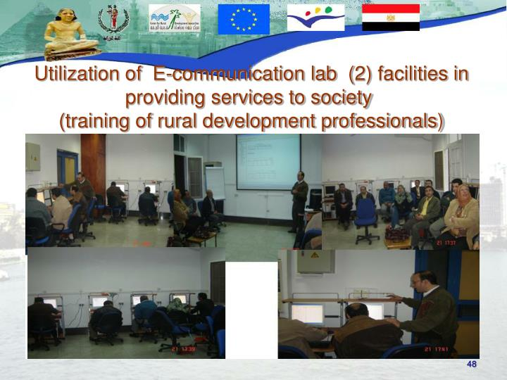 Utilization of  E-communication lab  (2) facilities in providing services to society