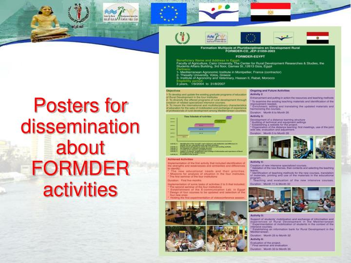 Posters for dissemination about FORMDER activities