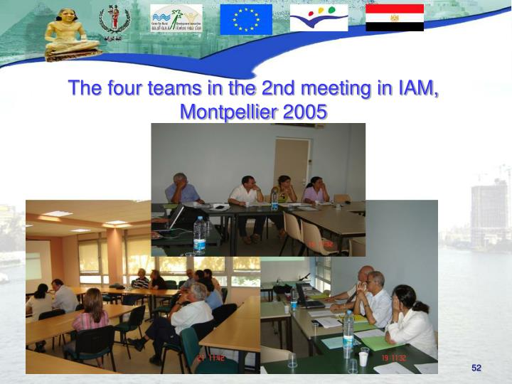 The four teams in the 2nd meeting in IAM, Montpellier 2005
