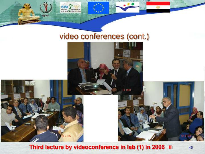 Third lecture by videoconference in lab (1) in 2006