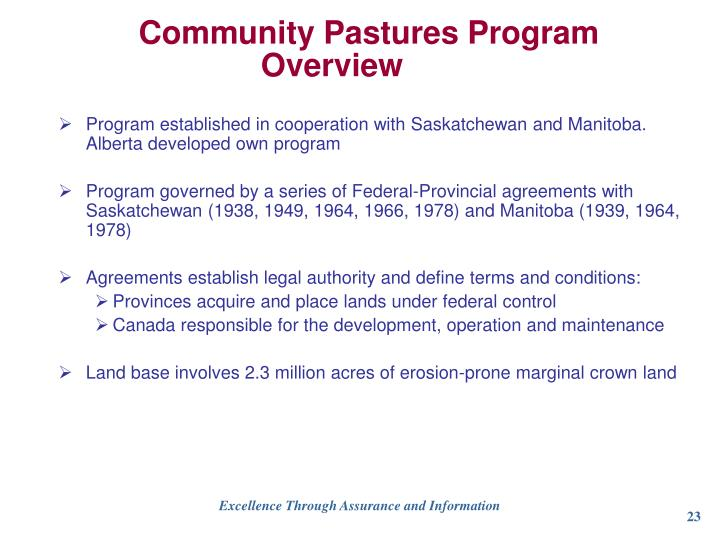 Community Pastures Program Overview