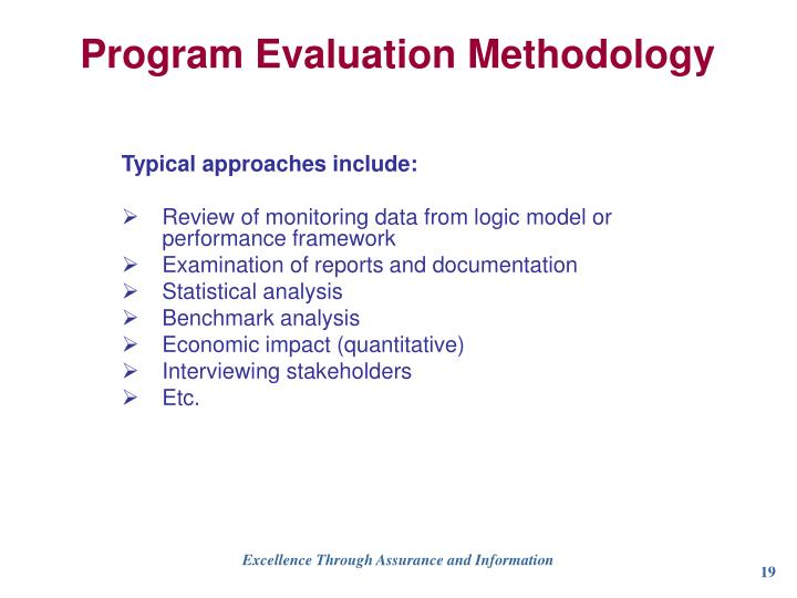 Program Evaluation Methodology