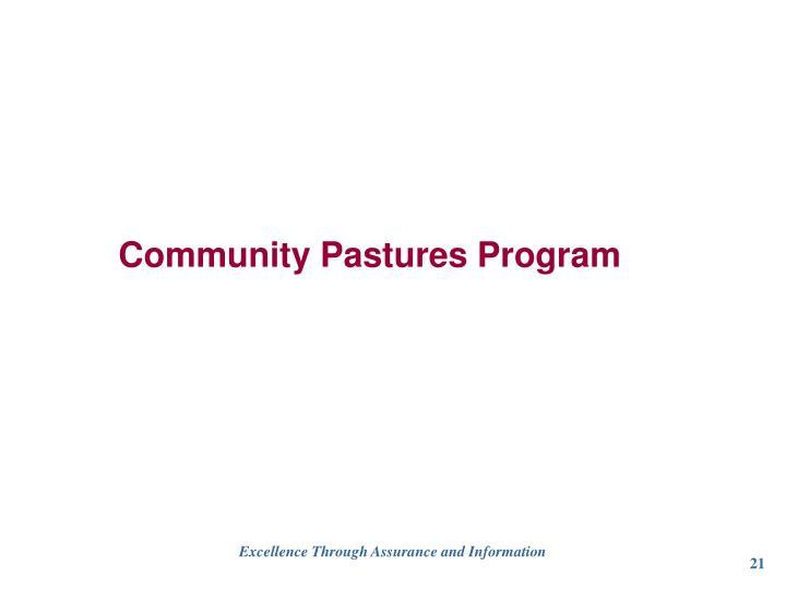 Community Pastures Program