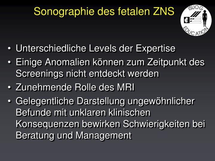 Sonographie des fetalen ZNS