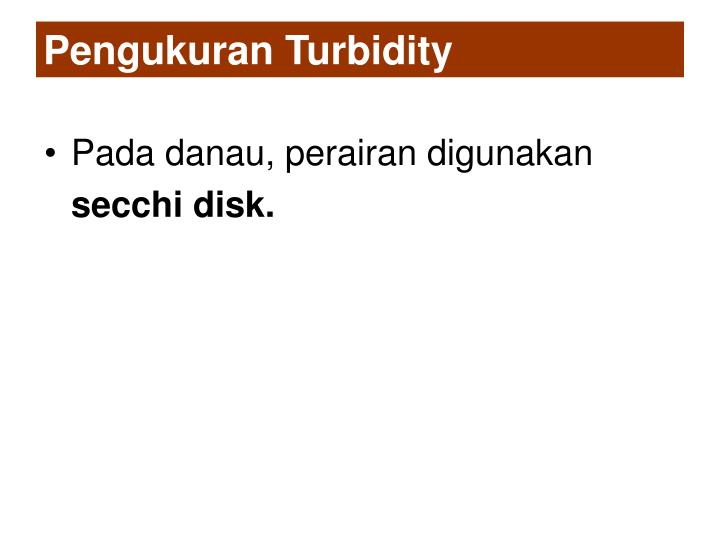 Pengukuran Turbidity