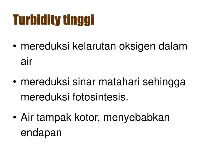 Turbidity tinggi