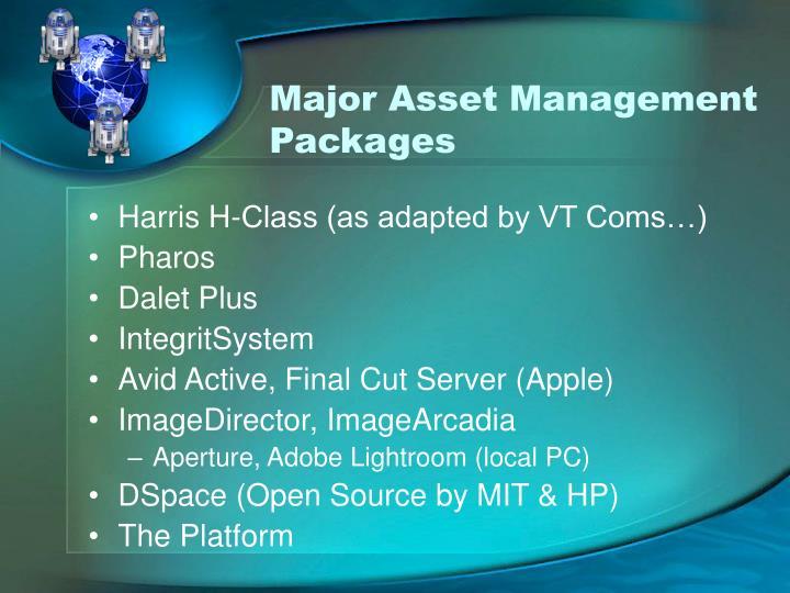 Major Asset Management Packages