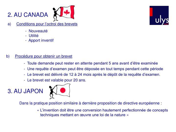 2. AU CANADA