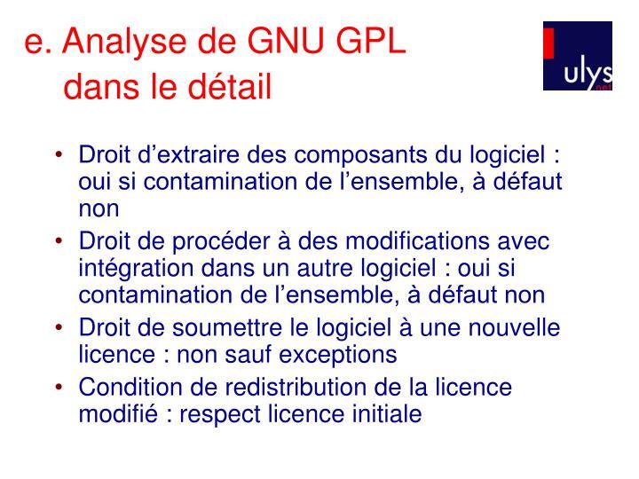 e. Analyse de GNU GPL