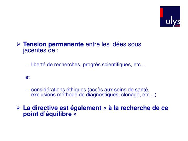 Tension permanente