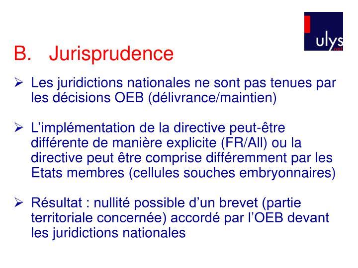 B.Jurisprudence