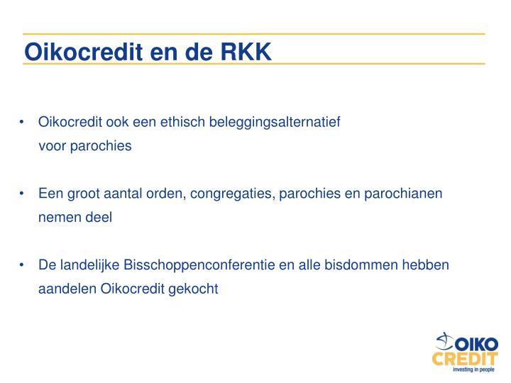 Oikocredit en de RKK