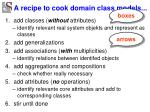 a recipe to cook domain class models