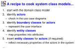 a recipe to cook system class models