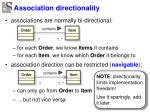association directionality