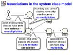 associations in the system class model1