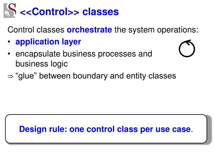 <<Control>> classes
