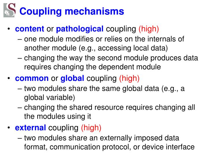 Coupling mechanisms