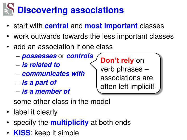Discovering associations