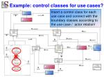 example control classes for use cases