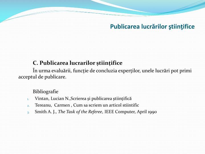Publicarea
