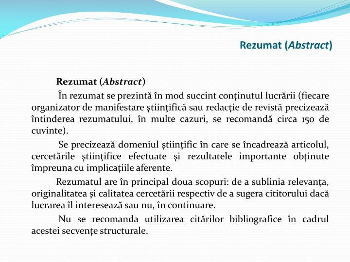 Rezumat (