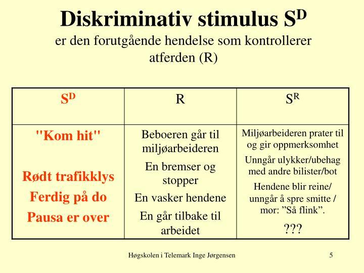 Diskriminativ stimulus