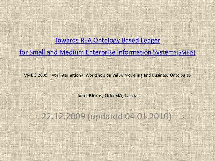 Towards REA Ontology Based Ledger