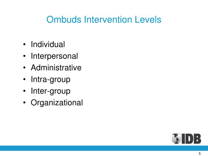 Ombuds Intervention Levels