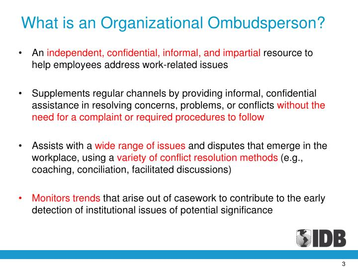 What is an Organizational Ombudsperson?