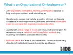 what is an organizational ombudsperson