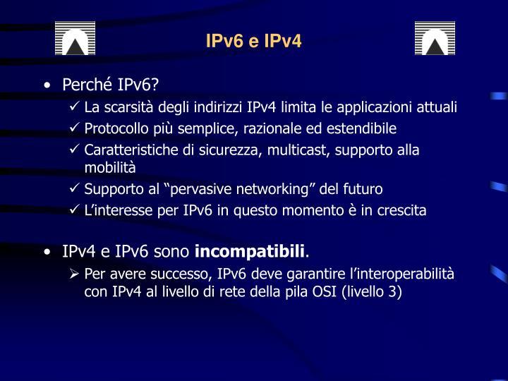 IPv6 e IPv4