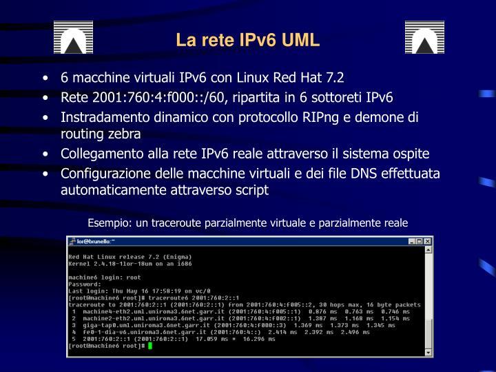 La rete IPv6 UML