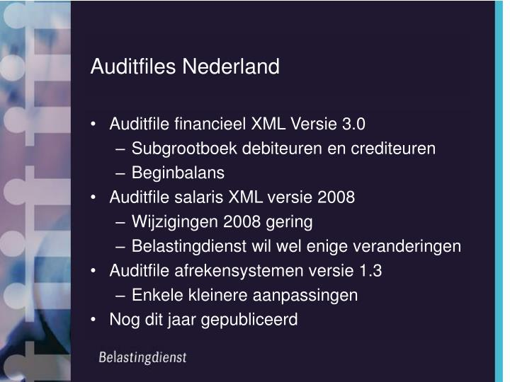 Auditfiles Nederland