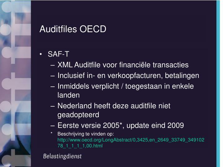 Auditfiles OECD
