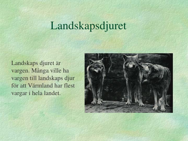 Landskapsdjuret
