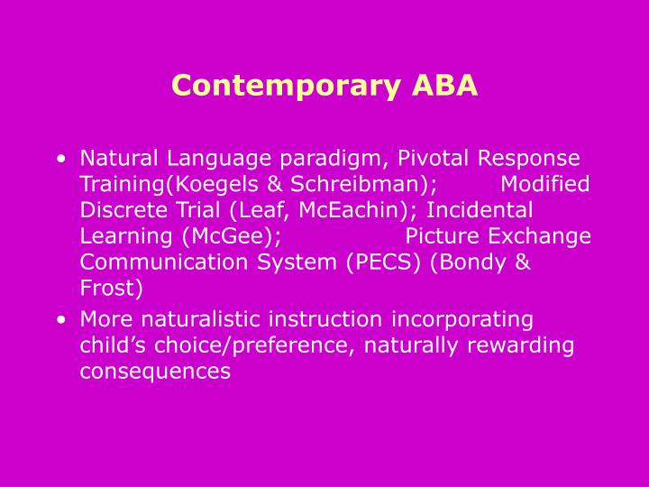 Contemporary ABA