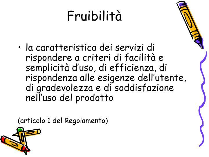 Fruibilità