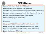 fee status