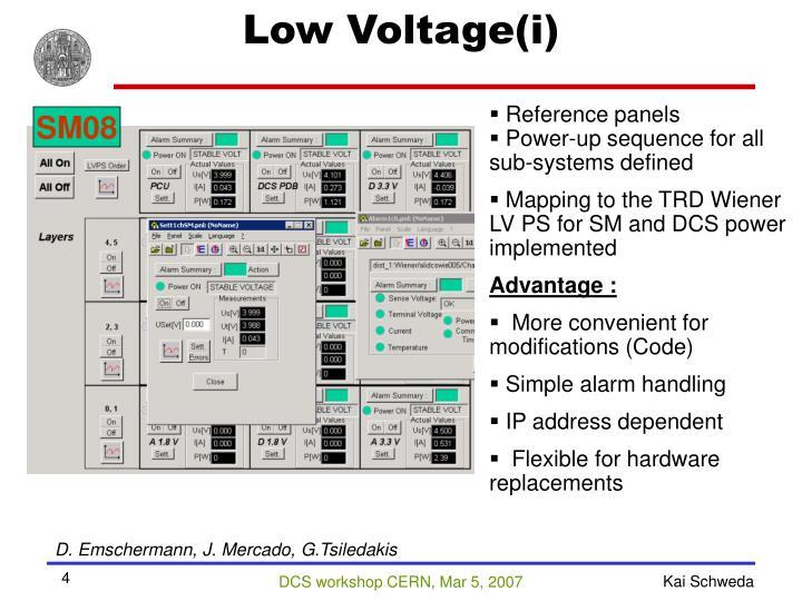 Low Voltage(i)