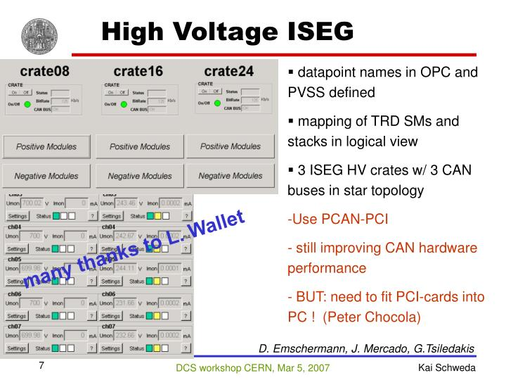 High Voltage ISEG
