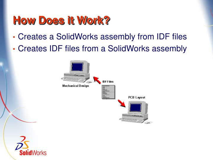 Creates a SolidWorks assembly from IDF files