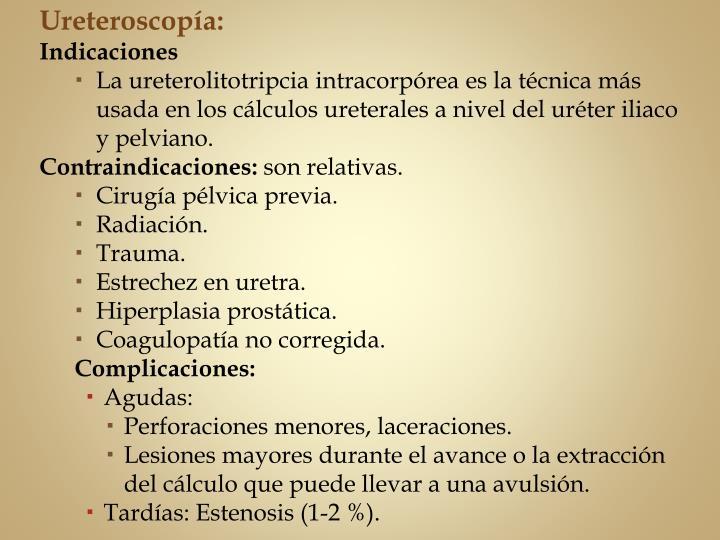 Ureteroscopía: