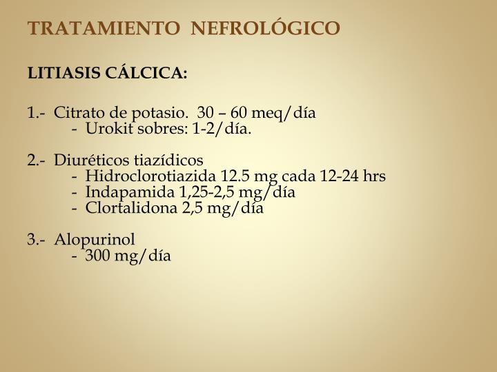 TRATAMIENTO  NEFROLÓGICO