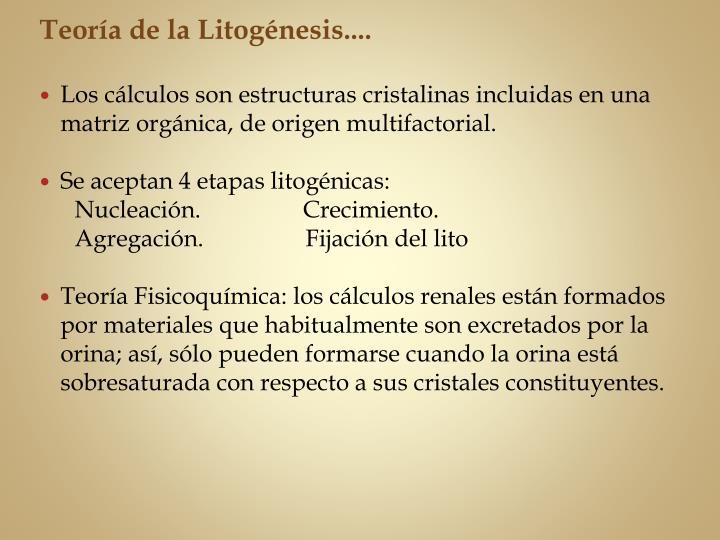 Teoría de la Litogénesis....