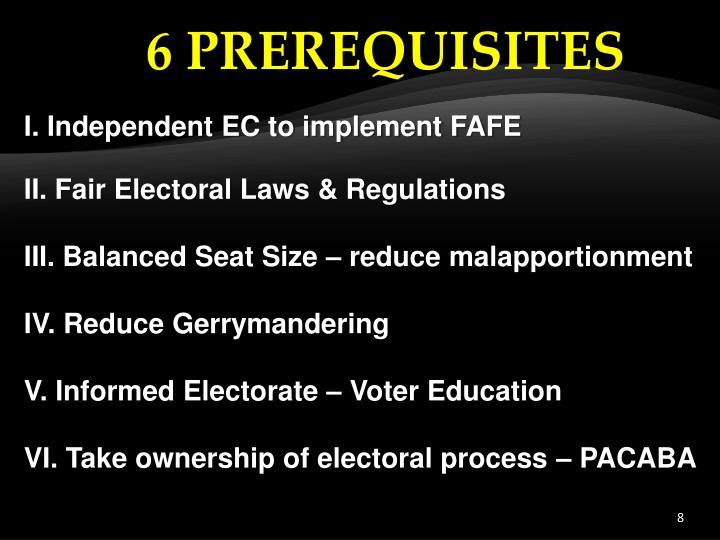 6 PREREQUISITES