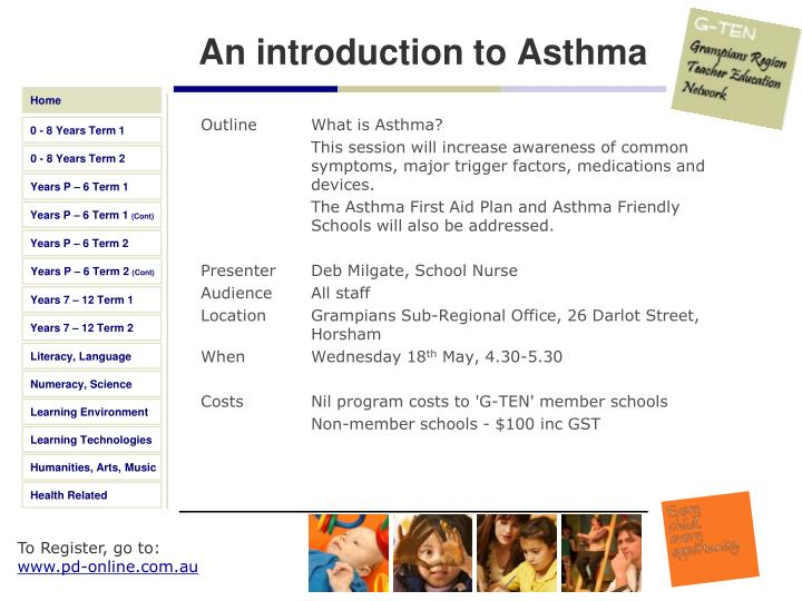 An introduction to Asthma