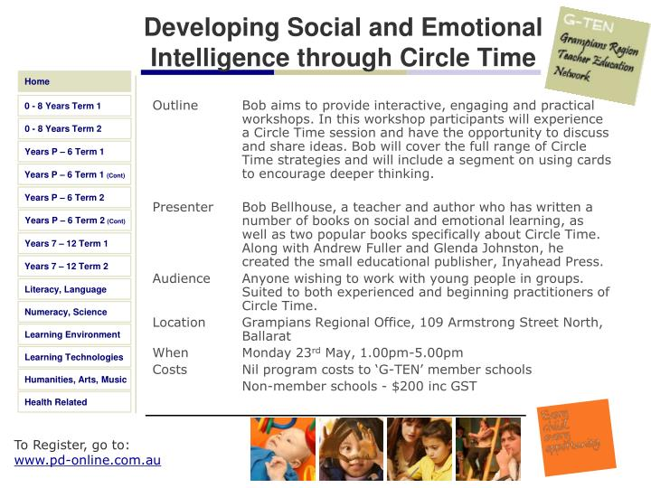 Developing Social and Emotional Intelligence through Circle Time