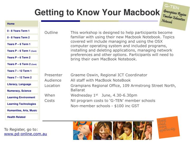 Getting to Know Your Macbook