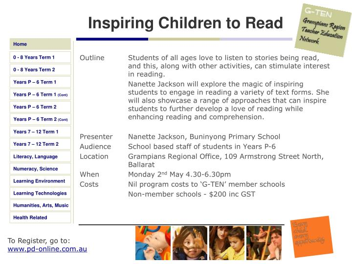 Inspiring Children to Read